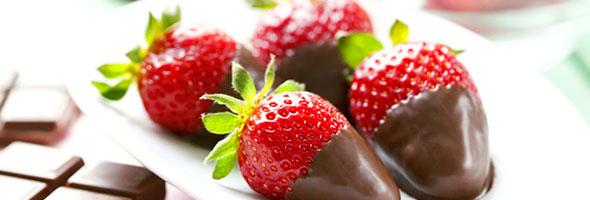 surprises de fraises au chocolat
